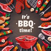 Grill BBQ-tijd achtergrond vector