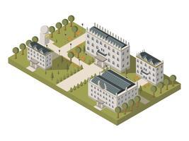 Isometrisch universitair concept vector