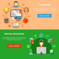 E-learningbannerset vector