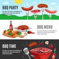 barbecue menu banners instellen
