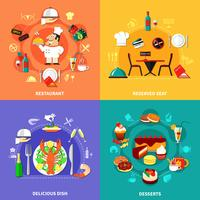 voedsel spot composities set vector