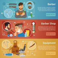 Barber Shop-banners instellen vlakke stijl vector