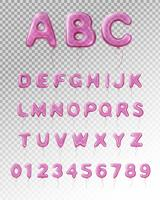 Ballon alfabet realistische transparante samenstelling vector