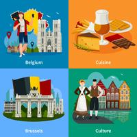 Belgisch oriëntatiepuntenstijl reisconcept
