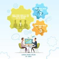 Infographic vergadering vergadering