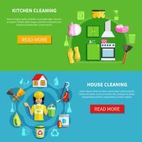 Maak de huisbanners schoon vector