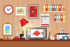 Samenstelling ontwerper werkplek