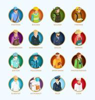 Mensen Avatar isometrische Set