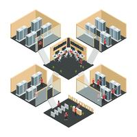 Datacenter isometrische samenstelling