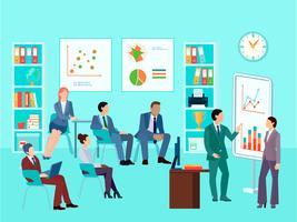 zakelijke analytics vergadering samenstelling vector