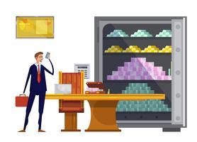 Financiële rijkdom vlakke samenstelling vector