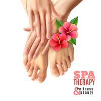 pedicure manicure spa salon poster vector