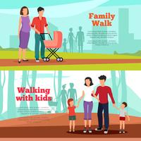 Familie Banners Set vector