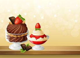 Snoepjes in glazen Bowls-samenstelling vector