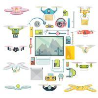 Drones Group Set gebruiken vector
