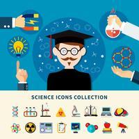 Wetenschap iconen collectie vector
