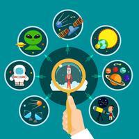 Space Concept Illustratie vector