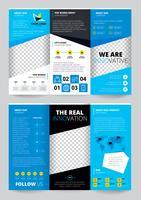 flyer trasparent ontwerp