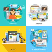 blogger vierkant ontwerpconcept vector