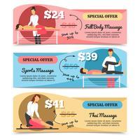 Massage en gezondheidszorgbanners