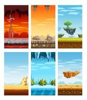 Computergames Kleurrijke elementen Cartoon Set vector