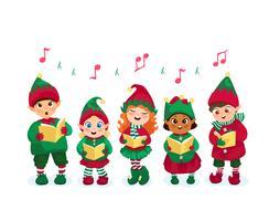 Caroling-kinderen instellen