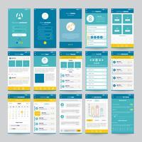 Mobiele schermen met UI-set