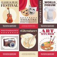 Kunst Posters Set vector