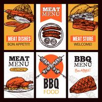 Vleesgerechten Verticale Banners vector