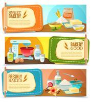 Bakken ingrediënten horizontale banners
