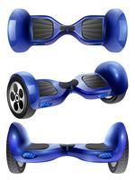 realistische gyroscooter 3 afbeeldingen instellen vector