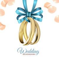 Bruiloft realistische achtergrond vector