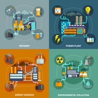 Industrie vlakke collectie lay-out vector