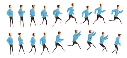 Running and Jumping Man-animatie