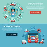 auto wassen banners vector