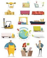Logistiek Icons Set vector