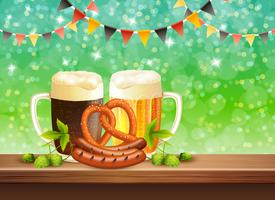 Bier realistische illustratie