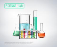 Science Laboratoriumapparatuur Samenstelling vector