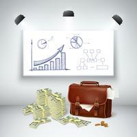Realistische zakelijke financiële sjabloon vector