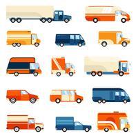 Levering Trucks Set vector