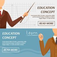 Onderwijs Concept horizontale banners vector