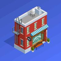 Barbershop gebouw concept vector