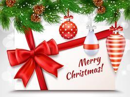 vrolijk kerstfeest wenskaart