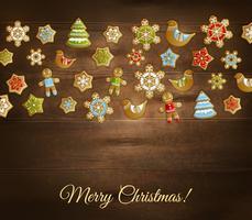 Kerst speelgoed sjabloon vector