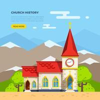 Kerk vlakke afbeelding vector