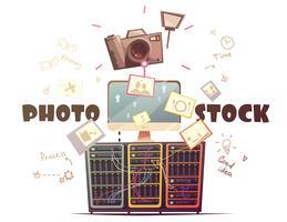 Foto Microstock Industrie Concept Retro Illustratie vector