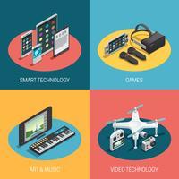Gadgets isometrisch ontwerp