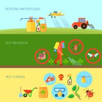 Pesticiden Banners Set