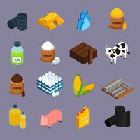 commodity-pictogrammen instellen vector