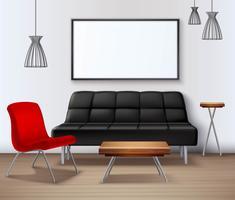 Moderne stedelijke interieur Mockup realistische Poster vector